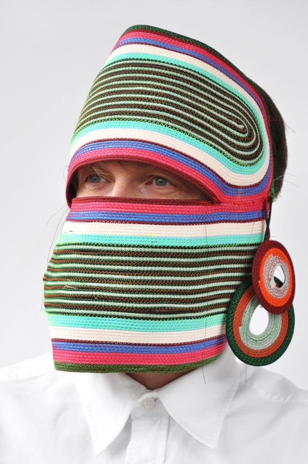Rope Mask, máscaras fabricadas con cuerdas por Bertjan Pot