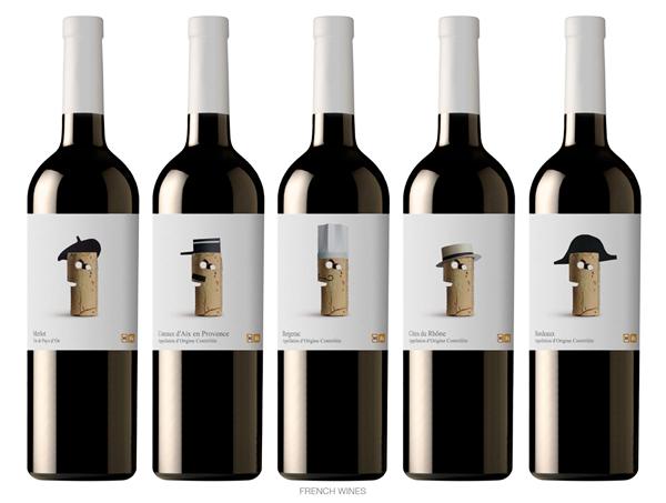 Etiquetas de vino de Lavernia & Cienfuegos para supermercados Delhaize
