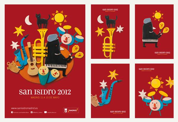 Pep Carrió para Ayuntamiento de Madrid: cartel de San Isidro 2012