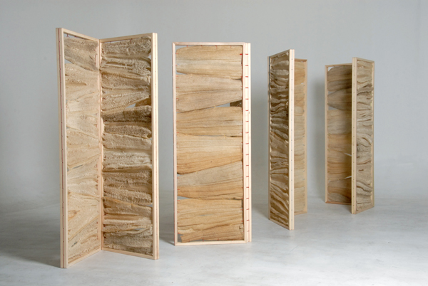 Lufa Series, objetos fabricados con esponja de lufa, por Fernando Laposse