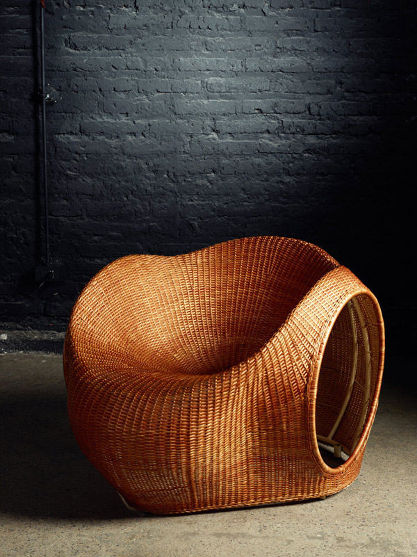 Amalia, silla de mimbre por Eggpicnic