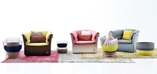 Coat, sofás tapizados de Sebastian Herkner para Moroso