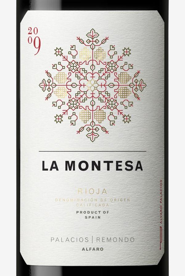 Etiquetas de vino La Montesa, Dorian para Bodega Palacios Remondo