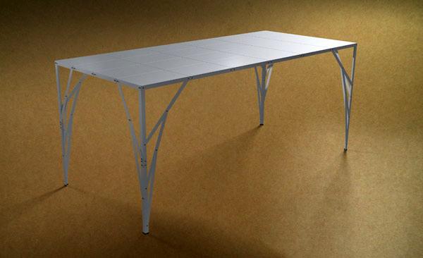 Postable, la mesa dentro de un sobre