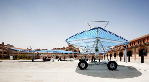 Escaravox, infraestructura agrosocial de Andrés Jaque para Matadero Madrid
