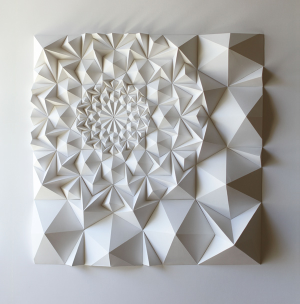 Artefactos y esculturas de papel de Matthew Shlian