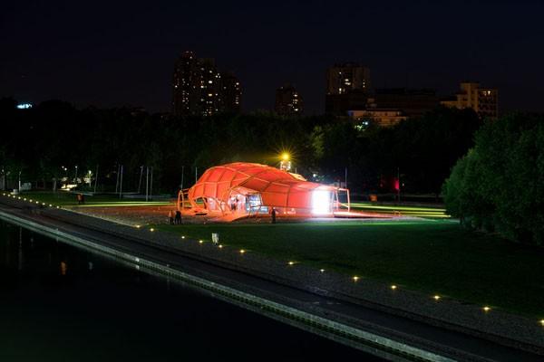 La Ville Intelligente, pabellón de Jakob+MacFarlane para la exposición Hellodemain en París