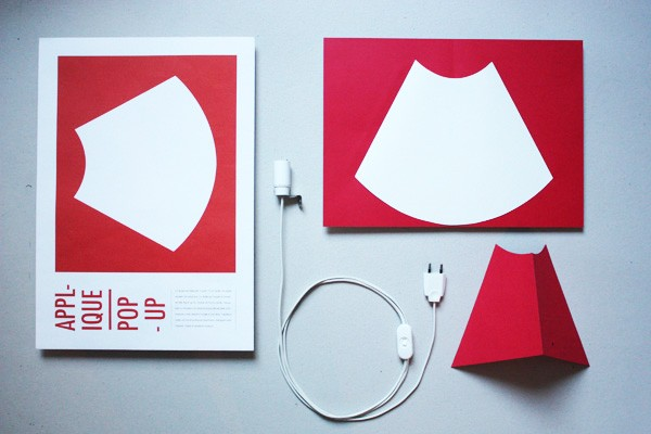 Pop-up corner light, la lámpara de papel de Well Well Designer