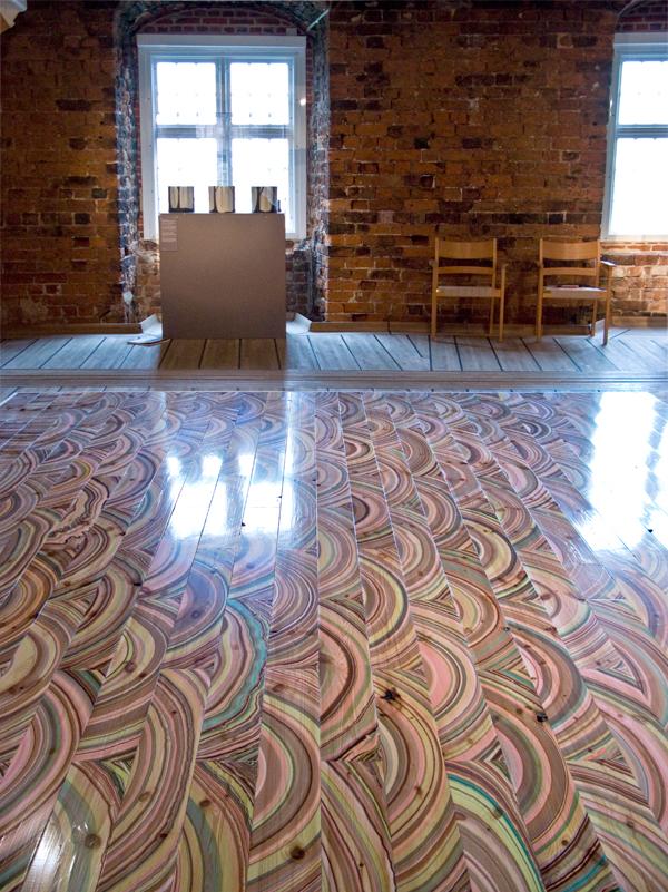Marbelous wood, el suelo pintado de Snedker Studio
