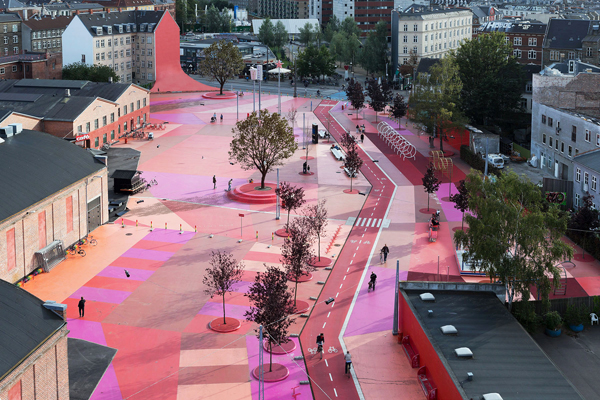 Parque urbano  Superkilen en Copenhague, de Bjarke Ingels Group