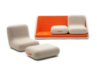 Concentré de vie, el sofá de Matali Crasset para Campeggi. modular y retrofuturista