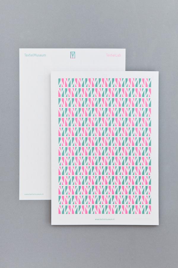 Diseño de la identidad visual de TextielMuseum y TextielLab, por Raw Color