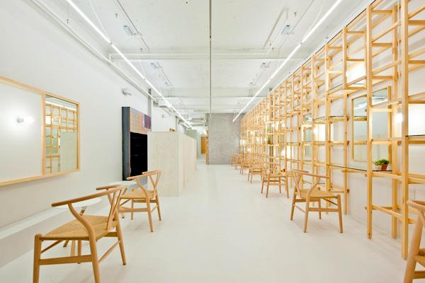 Salón de belleza End… Link, diseño interior de Yasunari Tsukada