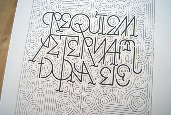 Requiem Aeternam Dona Eis, de Wete diseño gráfico
