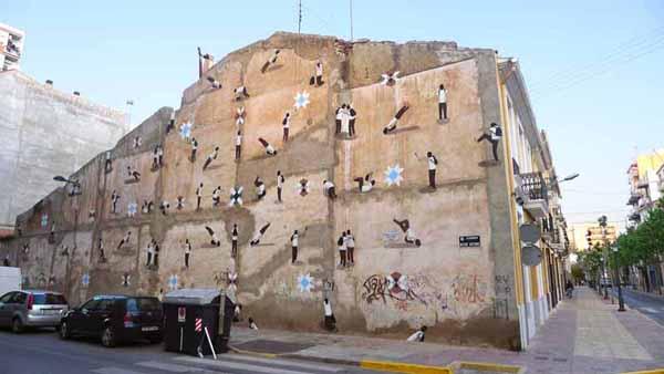 Escif, Vandalismo ilustrado en Villareal