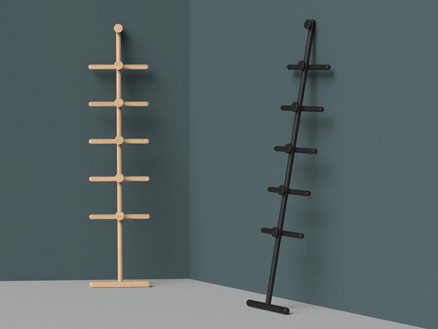 Ondo, el perchero de madera de Kenyon Yeh