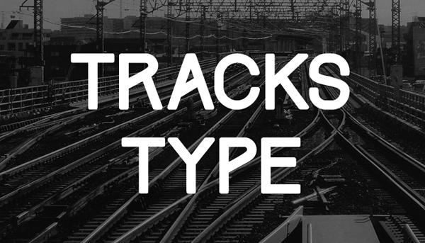 Tracks, tipografía de libre descarga