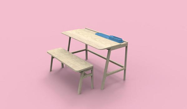 Vessel, sistema de equipamiento escolar de Alain Gilles