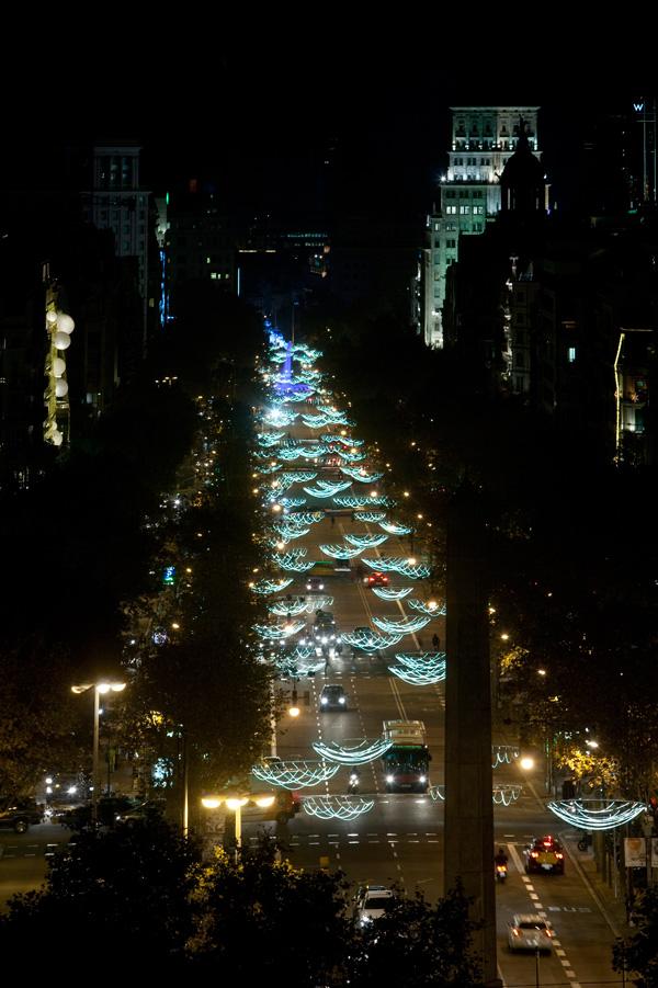 Emiliana design ilumina la Navidad del Paseo de Gracia de Barcelona