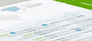 Bureau Oberhaeuser: calendario infográfico para concienciar sobre el cambio climático