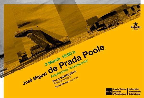 Conferencia del Premio Nacional de Arquitectura José Miguel de Prada Poole