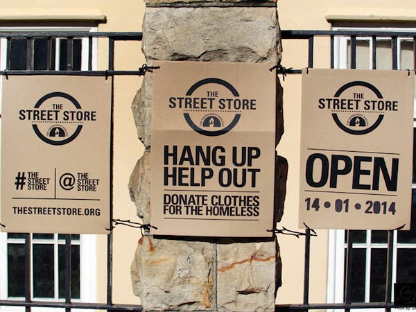 The Street Store, una tienda que toma la calle para vestir a los sin techo