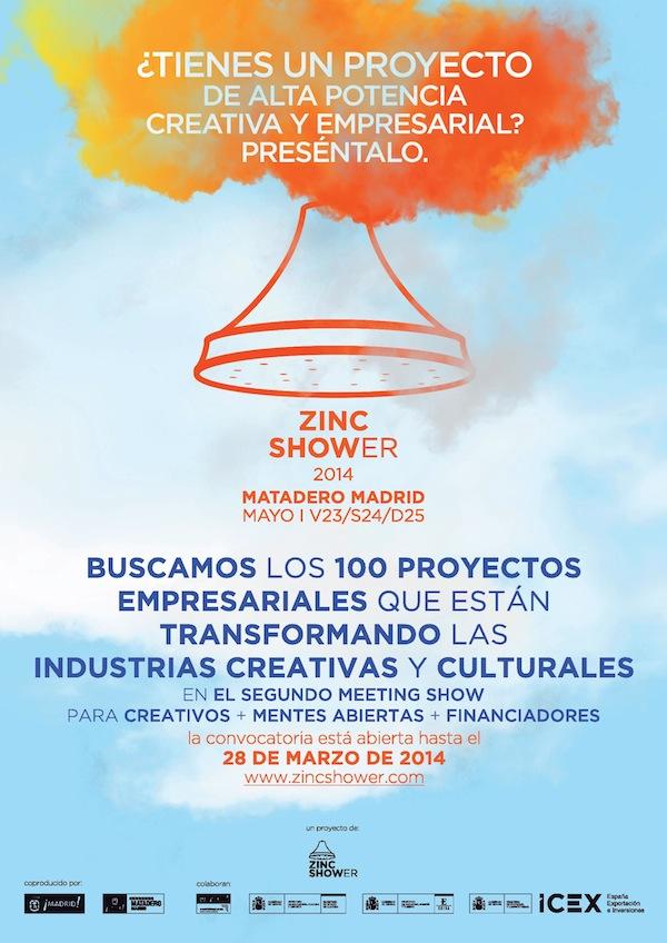 Zinc Shower, convocatoria para industrias culturales y creativas