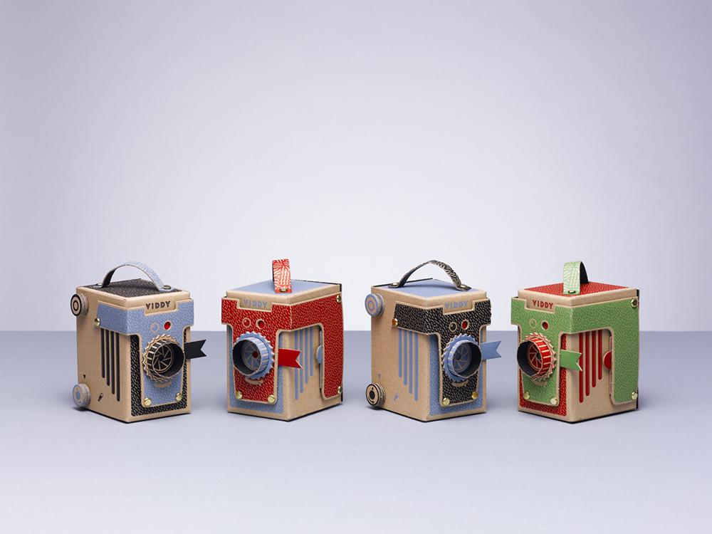 Viddy, la cámara DIY de cartón que se monta en 30 minutos