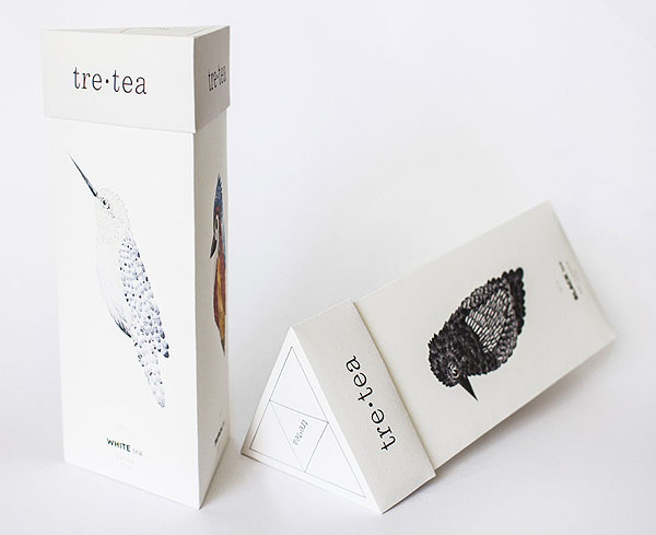Tre•tea, packaging de té por Natalia Bivol