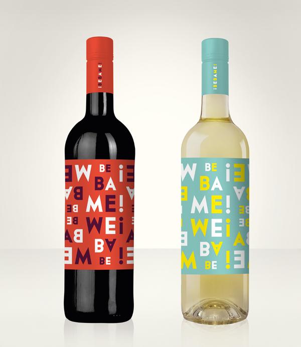¡Bébame!, etiqueta de vino por Ruska, Martin, Associates