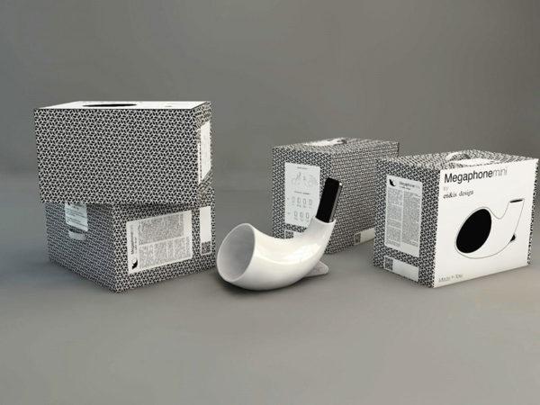 Megaphone y Megaphonemini, los altavoces analógicos de Enrico Bosa e Isabella Lovero