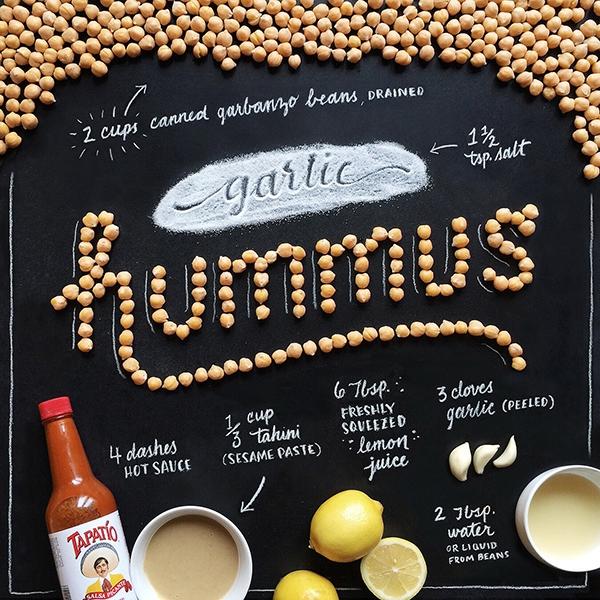 Food lettering, de Becca Clason
