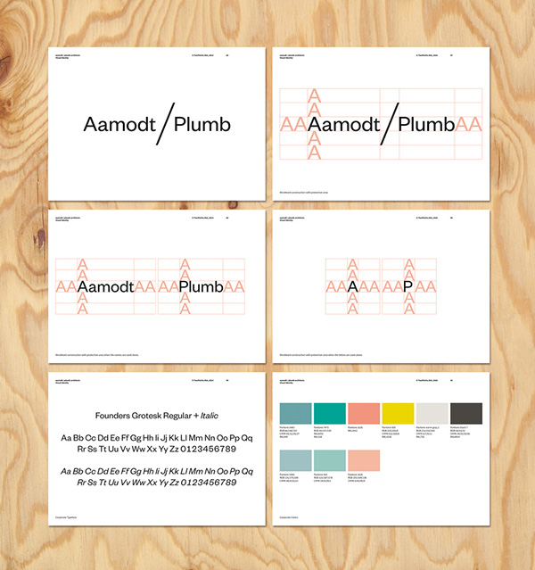 Identidad visual de Aamodt / Plumb Architects, por TwoPoints.Net