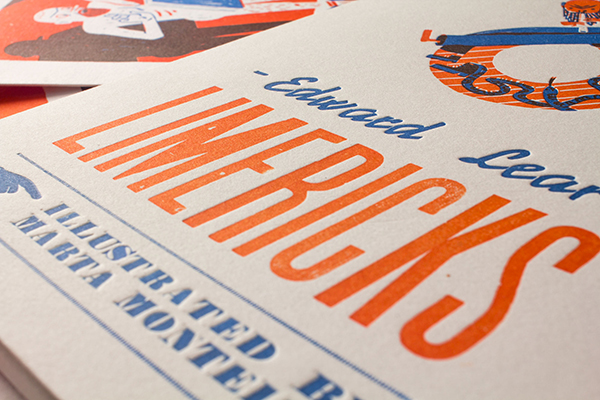 Marta Monteiro ilustra los Limericks de Lear para Obsolete letterpress