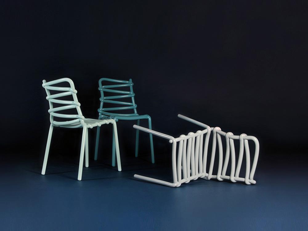 Silla Loop, por Markus Johansson. La imprevisibilidad del pensamiento