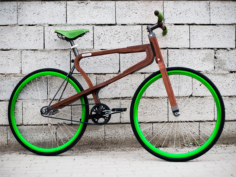 WooBi, la bicicleta de madera de Matteo Zugnoni