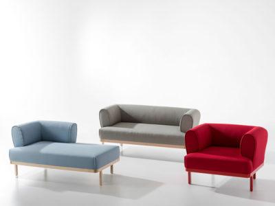 Colección ZIP, edeestudio para B&V. Butacas, sofá y divanes