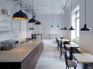 Proti Proudu Bistro, interiorismo en Praga de Mimosa architekti