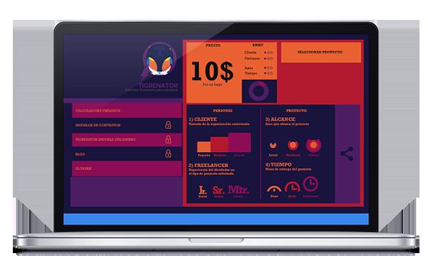 Tigrenator, app para calcular presupuestos de Risky