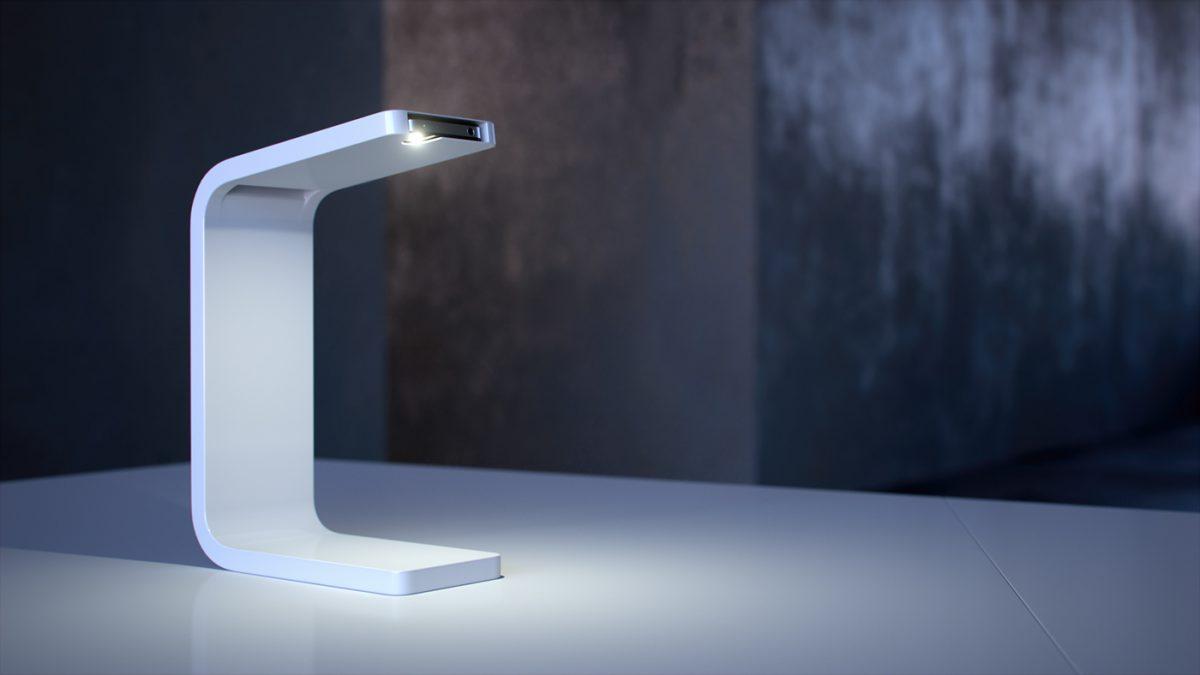 iPhone Lamp, la lámpara que funciona con móviles de Apple de Ivan Zhurba