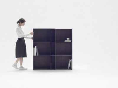 Nest Shelf, la estantería extensible y versátil de Nendo