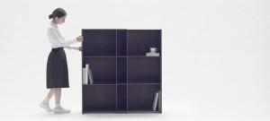 Nest Shelf, la estantería extensible y versátil de Nendo