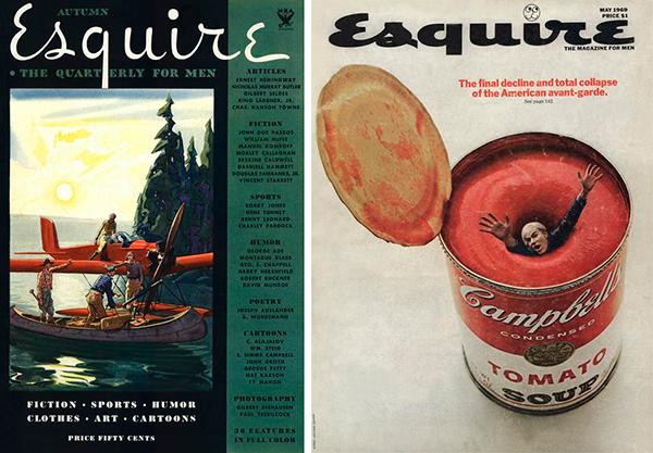 Esquire Magazine , portada 1933 y 1969.