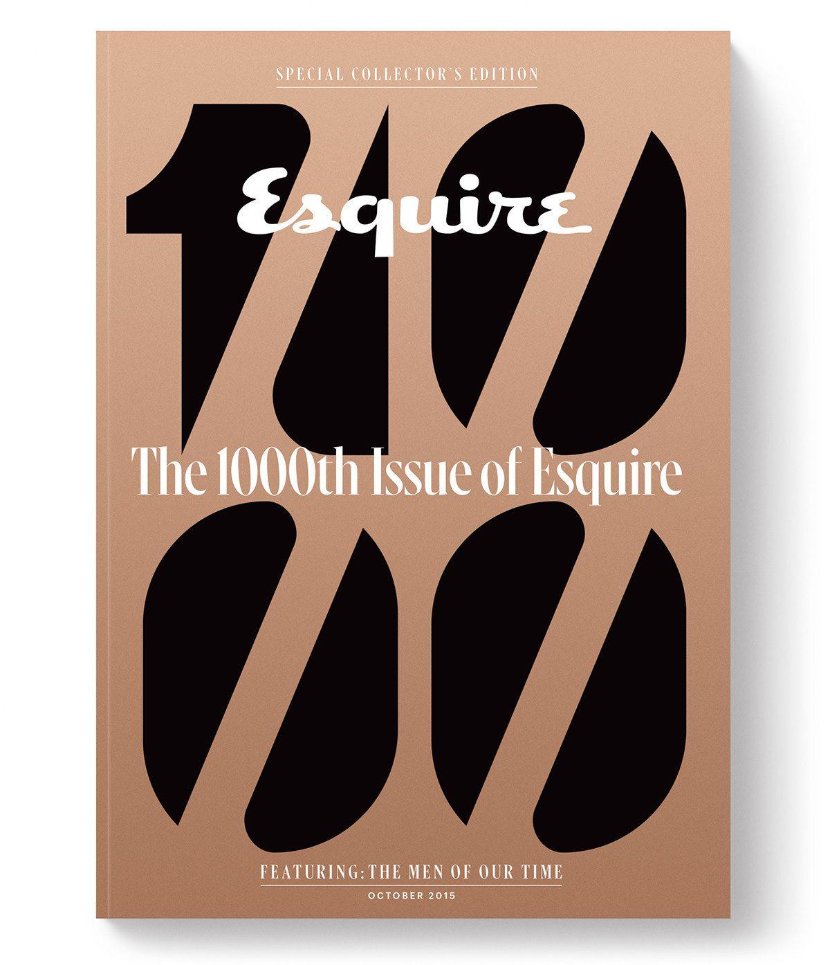 Diseño editorial de Sawdust para Esquire