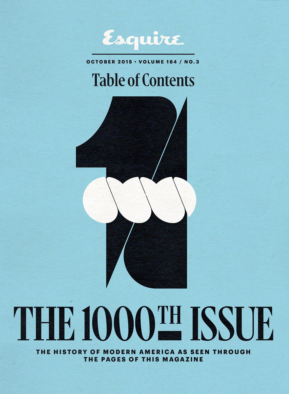 Esquire Magazine n° 1000, Sawdust, 2015.