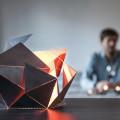 Folding Lamp, lámpara origami de Thomas Hick