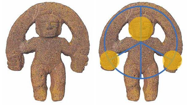 Henry Vargas Benavides, análisis de las estructuras de las piezas de cerámica. Foto cortesía del autor.