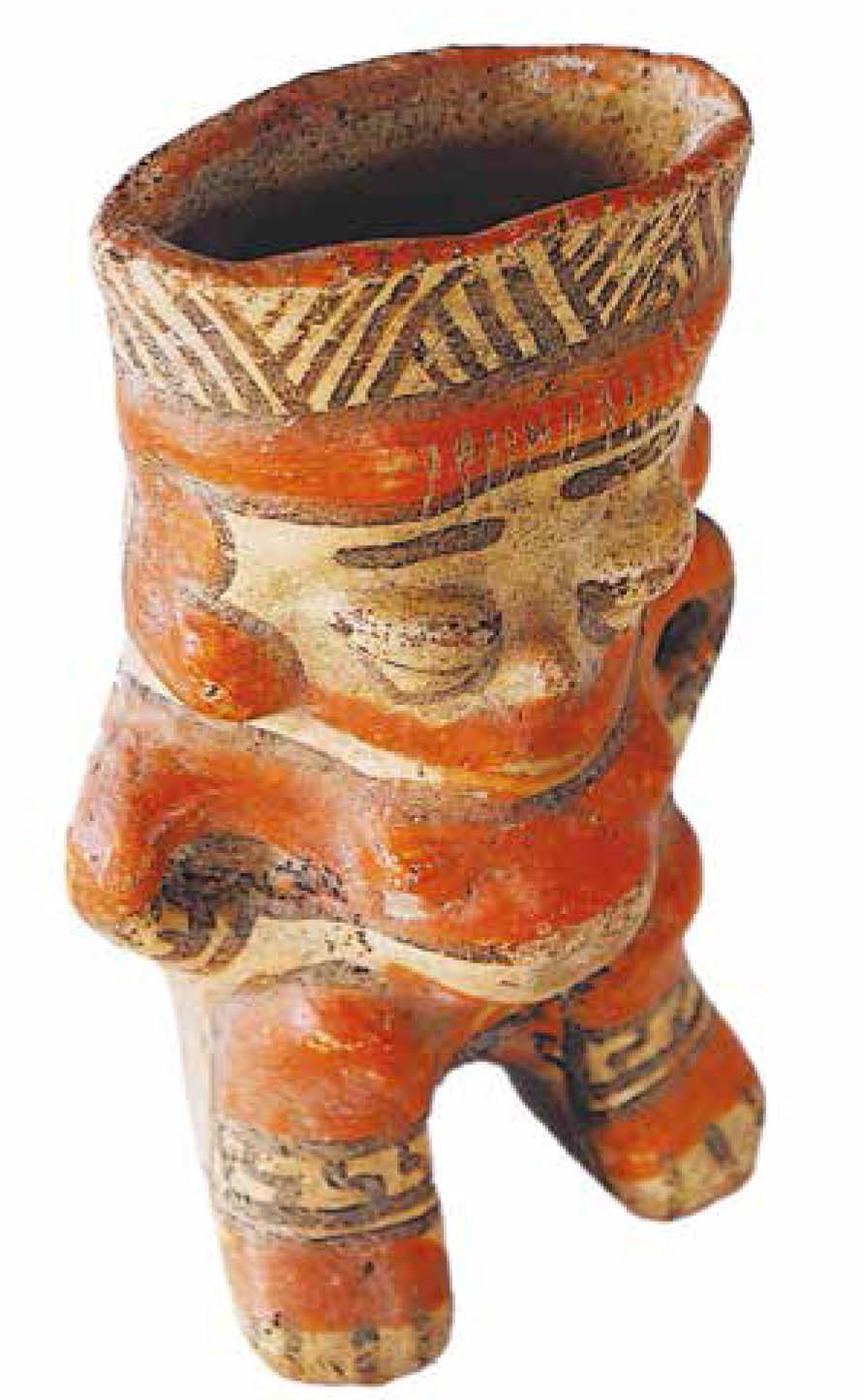 Henry Vargas Benavides, En esta pieza de cerámica aparece la figura femenina embarazada. Foto cortesía del autor.