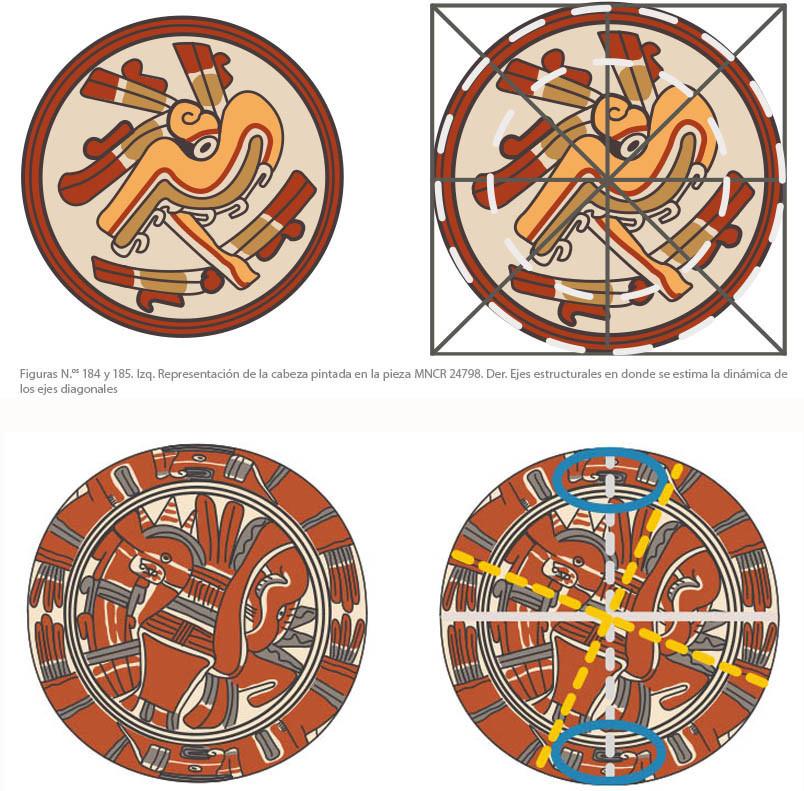 Henry Vargas Benavides, Análisis de las estructuras de las piezas de cerámica donde se observa la partición de la circunferencia en tres arcos de 120 grados y con ello se deduce el manejo del lenguaje geométrico. Foto cortesía del autor.
