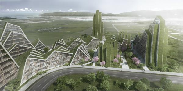 Hualien residences, parque habitacional futurista en Taiwán